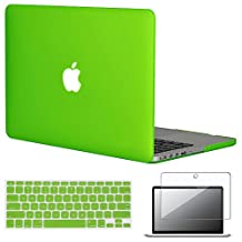 """Easygoby 3in1 Case For Retina 13-Inch - Matte Silky-Smooth Soft-Touch Hard Shell Case Cover For MacBook Pro 13.3"""" With Retina Display NO CD-ROM Drive (Fits Model: A1502 / A1425) + Keyboard Cover + Screen Protector- Deep Green"""