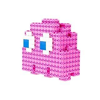 Strictly Briks Pac-Man & BANDAI NAMCO Entertainment Inc | Pac-Man 3D Pinky Brik Model Set - 115 Pieces 3D Briks 3D Build