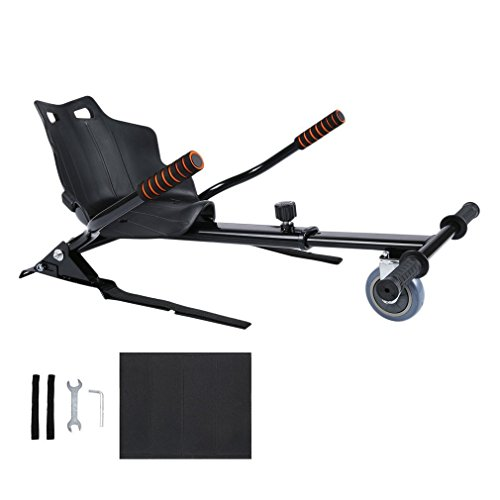 Nexttechnology Hover Kart Self Balance Scooter, Drifting Mini Cart Conversion Kit 6.5'' Hoverboard Cart Accessories for Off-Road Go-Karting, Hover Board Not Included (Black-2) by Nexttechnology