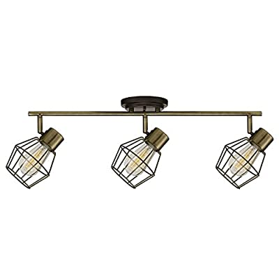 Globe Electric 59193 Jax 3 Track Antique Finish, Bulbs Included, 3 Light, Pewter