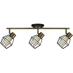 Globe Electric Jax 3 Track Light, Antique Pewter Finish, Bulbs Included 59193