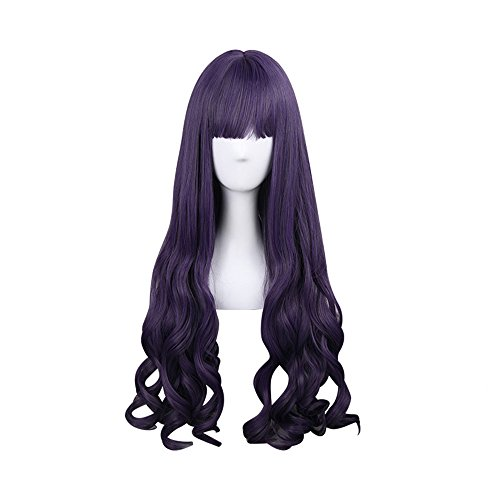 (APE Halloween Costume Cosplay Wig Lolita Natural Straight Wavy 31.5 Inch Long Wig Purple Wig Women's Mid Long Wig for Daily Use/TV or Film Character)