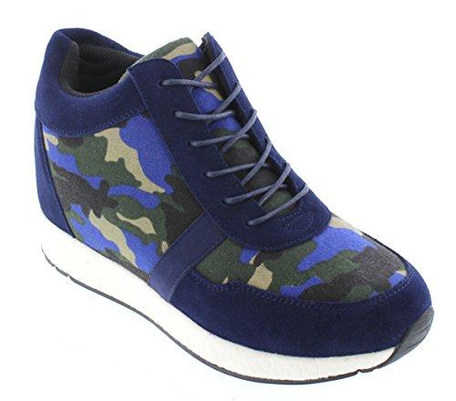 CALTO 3 Sneakers 2 blue Men Inches Navy Canvas rqzr7P