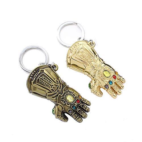 Avengers Infinity Gauntlet Keychain Marvel Thanos Glove Keychain Key Ring (2 pcs Mix)