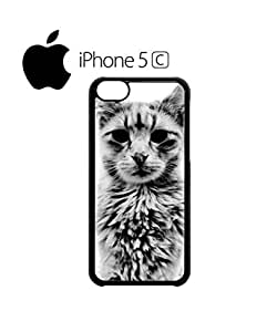 Cat Kitten Angry Grumpy Meow Mobile Cell Phone Case Cover iPhone 5c Black