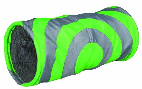 Trixie Cushy Plush Play Tunnel, 15 x 35 Cm, Grey/ Green