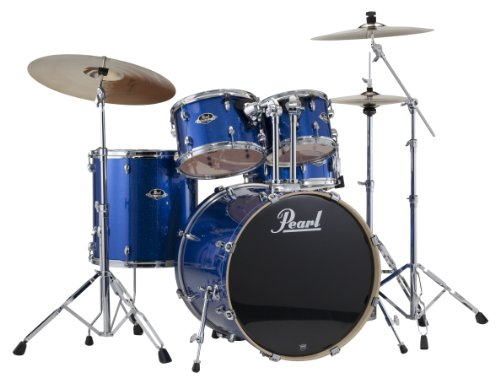 Pearl EXX725/C 5-Piece Export Standard Drum Set with Hardware - Electric Blue Sparkle (Cymbals Not Included) by Pearl