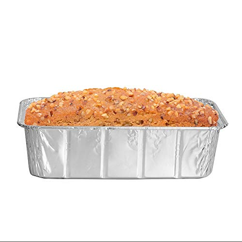 Party Bargains Loaf Pans | Heavy Duty Durable Quality Disposable Aluminum 2Lb Bread Tins | Perfect for Bakery, Homemade Cakes, Meatloaf & Food Serving - 8.5 X 4.5 X 2.5 | Pack of 50