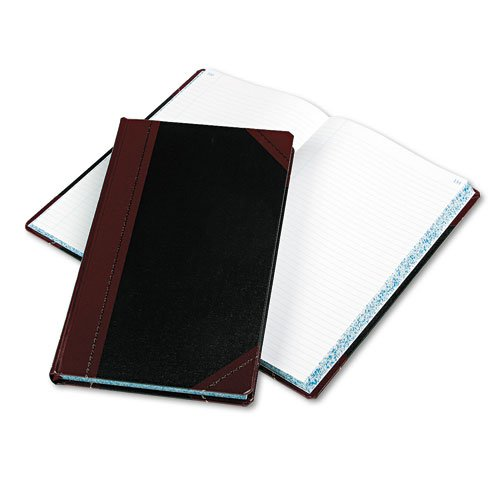 Boorum & Pease Record/Account Book, Black/Red Cover, 300 Pages, 14 1/8 x 8 5/8 by Boorum & Pease