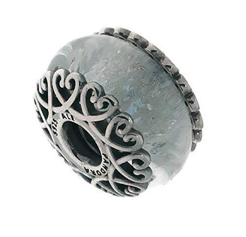 (Pandora Iridescent White Murano Glass Charm 797617)