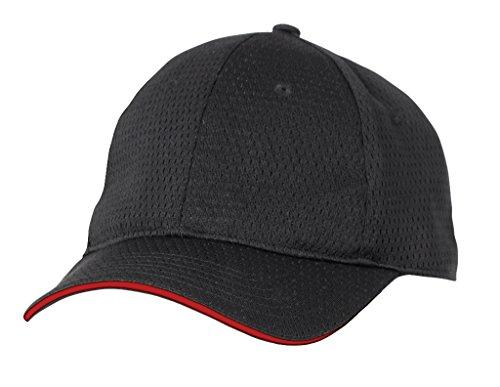 Color por Chef obras bcct-red-0gorra de béisbol Cool Vent, borde rojo, un tamaño, negro