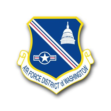 US Air Force District of Columbia Decal Sticker 3.8""