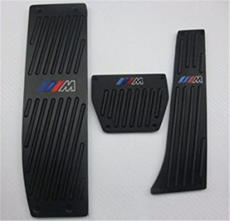 Ushopkins MT Pedal Accelerator Brake Clutch Pad Brake Foot Rest For BMW X1 E46 E90 E92 E93 E87 3 Series New 1 Series Black
