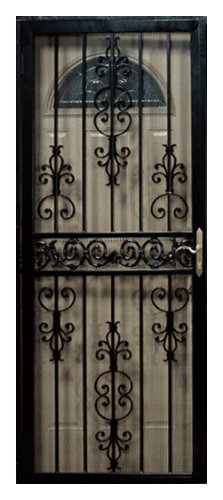 First Alert D80FA32X80 Ashland 32 Inch By 80 Inch Security Screen Door,  Black
