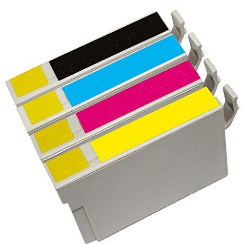 Inktoneram Remanufactured Ink Cartridges High Capacity Replacement for 126 (Black, Cyan, Magenta, Yellow, 4-Pack