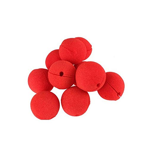 Red Clown Nose - Quickdone 50cs Lot Adorable Red Ball Foam Circus Clown Nose Comic Party Halloween Decorations - Cars Table Inflatable Soccer Organizer Yellow Animals Hats Engagement Toys -