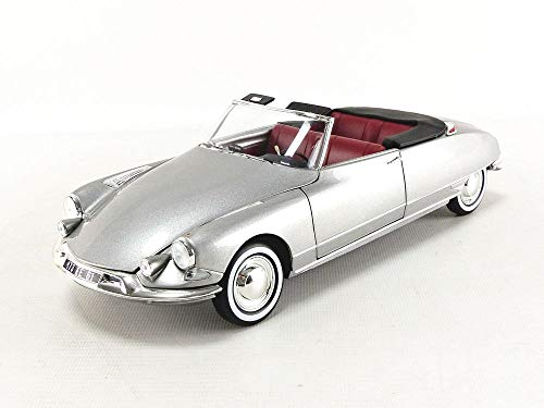 Norev 1961 Citroen DS 19 Cabriolet Pearl Grey 1/18 Diecast Model Car 181598