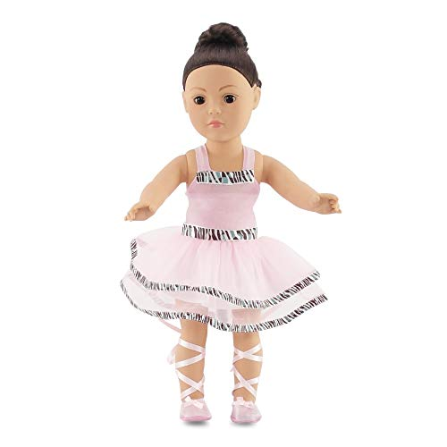 Fits American Girl Doll Ballet/Ballerina Dance Outfit - 18 Inch Doll Clothes/Clothing Includes 18