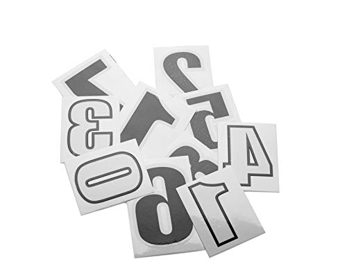 SLS3 Temporary Race Number Tattoo | Temporary Tattoos Numbers Pack of 100 | Ideal for Triathlon | Running | Cycling (100) (Temporary Tattoo Numbers)