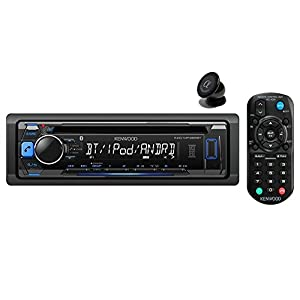 Kenwood KDC-MP368BT Car Single DIN In-Dash CD MP3 Stereo Receiver USB AUX Inputs Buit-in Bluetooth Dual Phone Connection iPod iPhone Control AM FM Radio Player