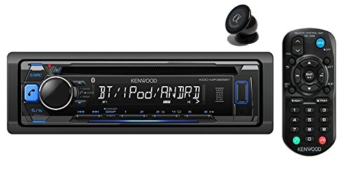 Kenwood KDC-MP368BT Car Single DIN In-Dash CD MP3 Stereo Receiver USB AUX Inputs Buit-in Bluetooth Dual Phone Connection iPod iPhone Control AM FM Radio Player (Cable Aux Kenwood)