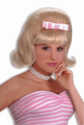 [Forum Novelties Women's Flirting with The 50's Bouffant Costume Wig, Blonde, One Size] (50s And 60s Halloween Costumes)