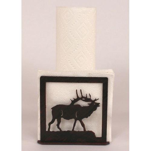 Coast Lamp Manufacturer 15-R26I Iron ELK Short Paper Towel & Napkin Holder - Burnt Sienna