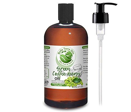 NEW Green Coffee Bean Oil. 16oz. Cold-pressed. Unrefined. Or