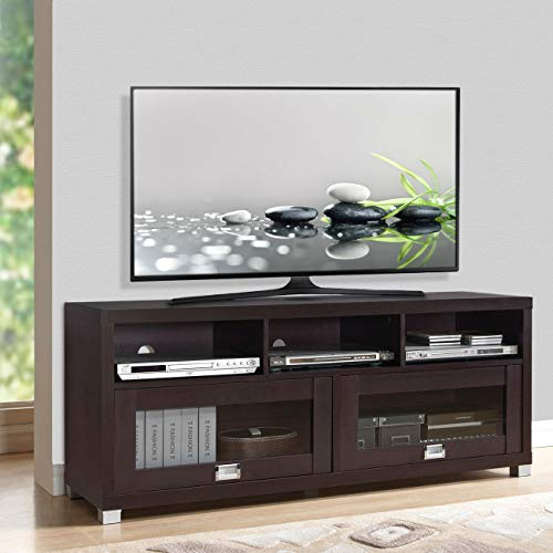 (Wood Home Classic TV Stand Home Entertainment Media Center Flat Screen TV Table Wooden Storage Cabinet TV Cabinet Durable Armoire Console Media Console Furniture 65