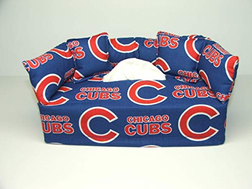 - Chicago Cubs MLB Licensed fabric tissue box cover. Includes Tissue