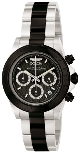 Invicta Men's 6934 Speedway Collection Chronograph Black and Silver Stainless Steel Watch