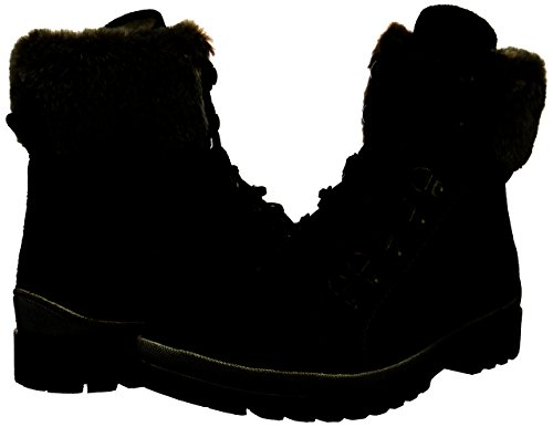 5 Black mocca Brown Uk Women's Boots Combat 304 262 Tamaris Bf17x