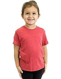 Toddler T-shirt Organic Eco Triblend Cew Neck Short Sleeve Royal Apparel USA