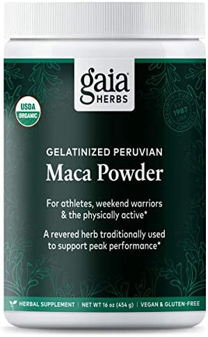 Gaia Herbs Organic Maca Powder, 16 Ounce – Peruvian-Grown Superfood Supports Energy, Stamina, Healthy Libido, Hormone Balance – Gelatinized, Vegan
