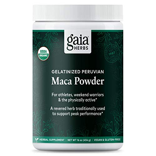 Gaia Herbs Gelatinized Vegan Maca Powder, 16 Ounce - Supports Energy and Stamina, USDA Organic, Gluten Free, Non-GMO (Best Herbs For Men)