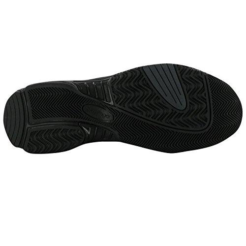 Slazenger Hombres Gents Tenis Zapatos Deportivos Zapatillas Perforadas Agujero Con Cordones Calzado Negro / Negro