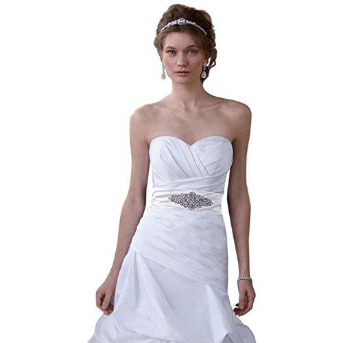 Dropped Waist Wedding Dress - David's Bridal SAMPLE: Dropped Waist Strapless Sweetheart Wedding Gown Style AI10012218.