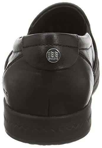 Modesty de Geox Negro Mujer Cordones Donna Cuero sin Negro Zapatos vwvrfHc5q