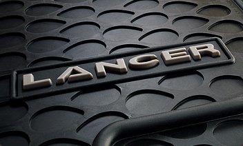Genuine Mitsubishi All Weather Rubber 2 Piece (Front) Floor Mats MZ314505 Lancer & Evolution 2008 2009 2010 2011 2012 2013 ()