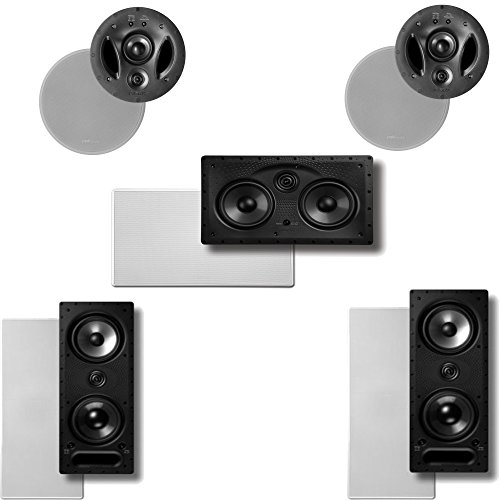 Polk Audio Vanishing LS Series 5.0 In-Wall / In-Ceiling Home Theater Speaker System (2-265LS, 2-700LS & 1-255CLS) by Polk Audio