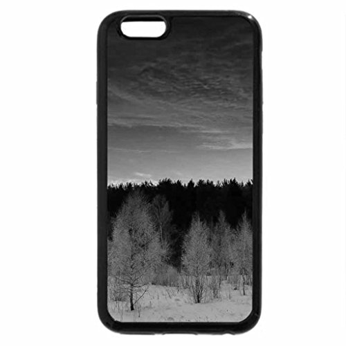iPhone 6S Plus Case, iPhone 6 Plus Case (Black & White) - Amazing winter sky