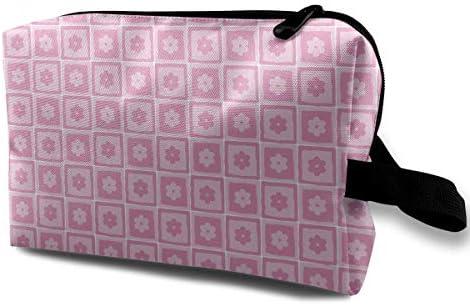ピンク 紫 四角枠 化粧ポーチ メイクポーチ コスメポーチ 小物入れ 洗面用具 化粧品収納 トイレタリーバッグ 吊り下げ コンパクト 大容量 普段使い 出張 旅行 かわいい おしゃれ プレゼント