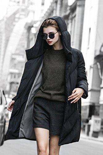 Duvet Hiver Impermable u Femme Gris Long Noir Vert you Noir pour en Manteau Beige qgRnZ