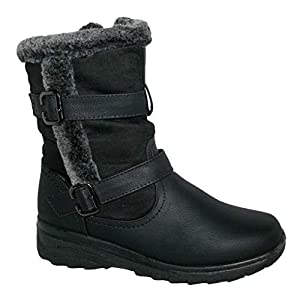 Cushion Walk Thermo-Tex Womens Comfort Fit Winter Boots – CW81 Brown