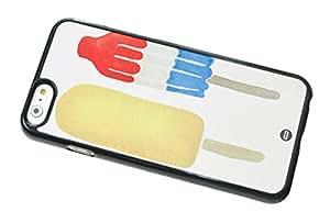 1888998400229 [Global Case] Comida Frutas Sandía Piña Plátano Kiwi Fresa Cucurucho De Helado Amarillo Blanco Manzana Cerezas Limón Pomelo (NEGRO FUNDA) Carcasa Protectora Cover Case Absorción Dura Suave para Apple iPod 4