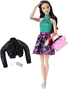 Barbie Style Glam Doll with Flower Skirt Dress