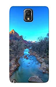 For Case Ipod Touch 4 Cover Defender(virgin River Zion National Park Landscape Mountains Sky ) Gift For Christmas