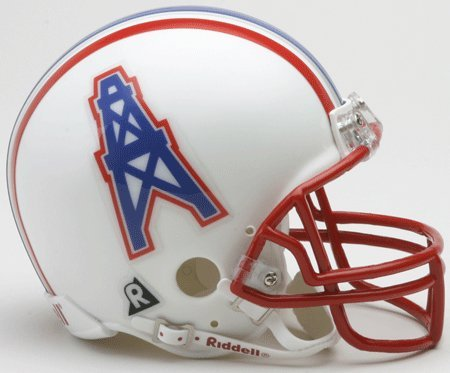 Replica Helmet Mini Tennessee (Houston Oilers 81-96 Riddell VSR4 Mini Replica Football Helmet)