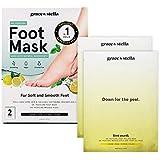 Dr. Pedicure Foot Peel Mask (2 Pair - Lemon) - Vegan - Exfoliating Foot Peeling Mask - Foot Mask For Dry Cracked Feet - Baby