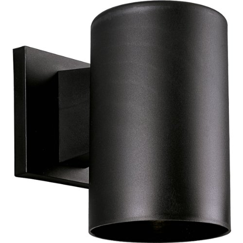 Progress Lighting P5712-31 5-Inch Non-Metallic Cylinder with Only Non-Corrosive Hardware Components Used and UL Listed For Wet Locations, Black (Plastic Wall Lighting)